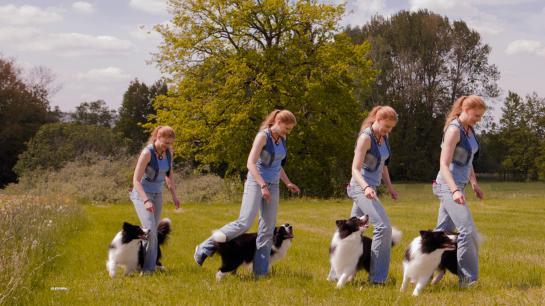 Andrea Bannert mit dem Hund Alejandro