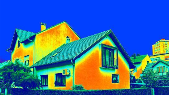 Infrarotaufnahme eines Hauses